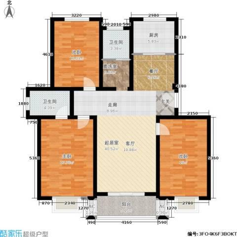 康顺园山庄122.00㎡G1户型3室2厅2卫-副本