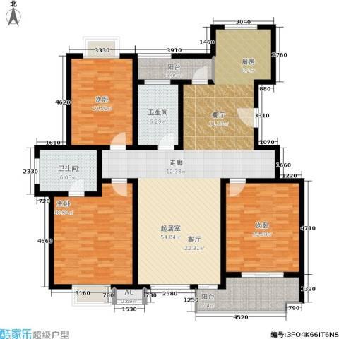 康顺园山庄144.00㎡G2户型3室2厅2卫-副本