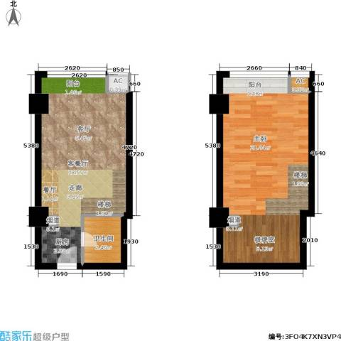 阅城新尚广场阅城50.00㎡房型酒店式公寓户型-副本