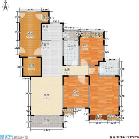 上寓99.00㎡房型户型-副本