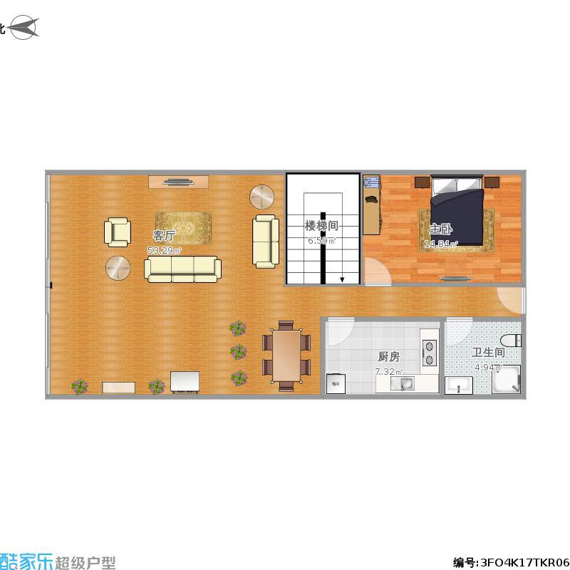 003-自建两间两层楼房第一层