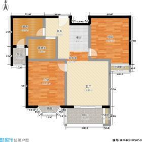 绿地崴廉公寓三期19#c7户型 2室2厅1卫1厨户型