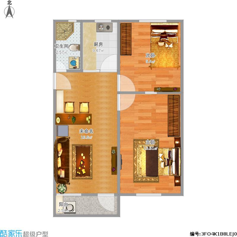 68平三室一厅老房子