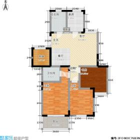 青春都市公寓118.98㎡2-3-01面积11898m户型