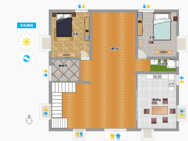 户型设计 农村自建房五房二厅二厕