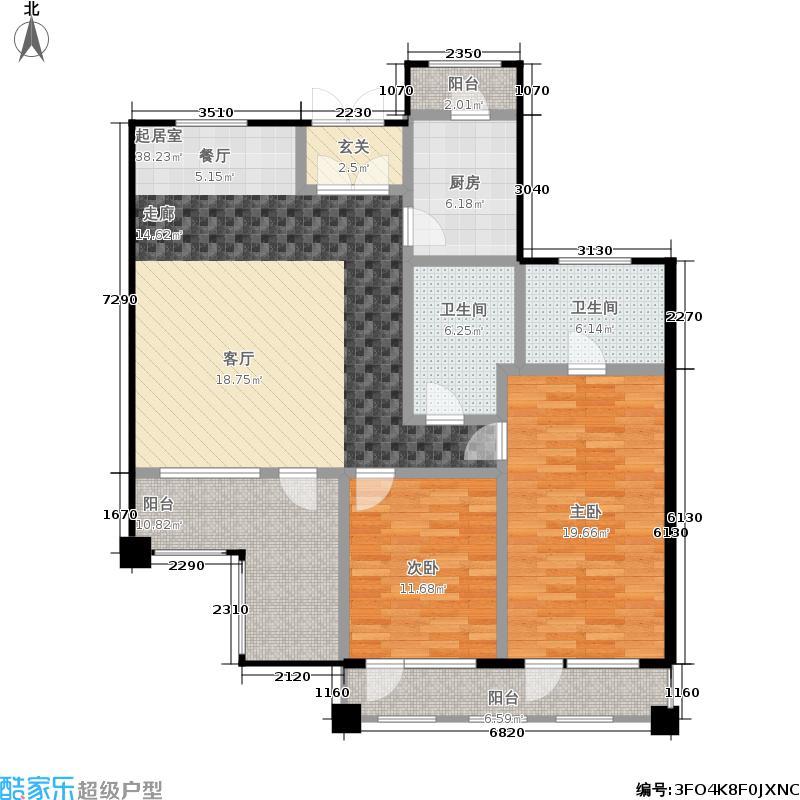 85㎡b户型退台式公寓二层两图片