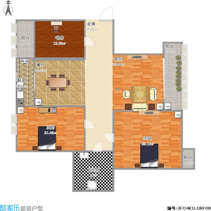 三室一厅房子设计图片展示