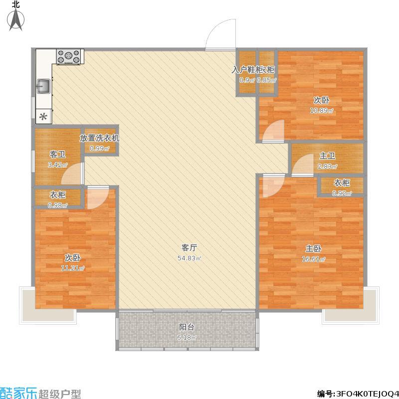 户型设计 天泰城汉城区三室两厅  山东 青岛 天泰城 套内面积:110.