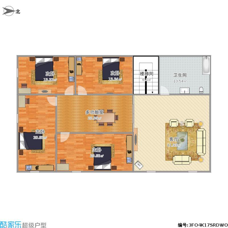 002-自建三间两层楼房第二层