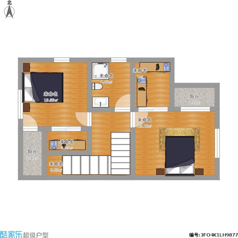 小户型新农村自建房屋设计图10米x6米两层60平米