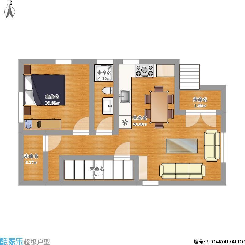 小户型新农村自建房屋设计图10米x6米两层60平米 美式图片