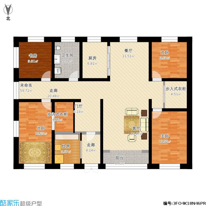 农村自建平房地上一层设计图20141222