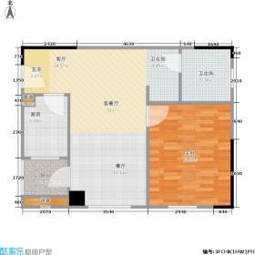 五矿万境水岸67.91㎡K4型户型1室1厅