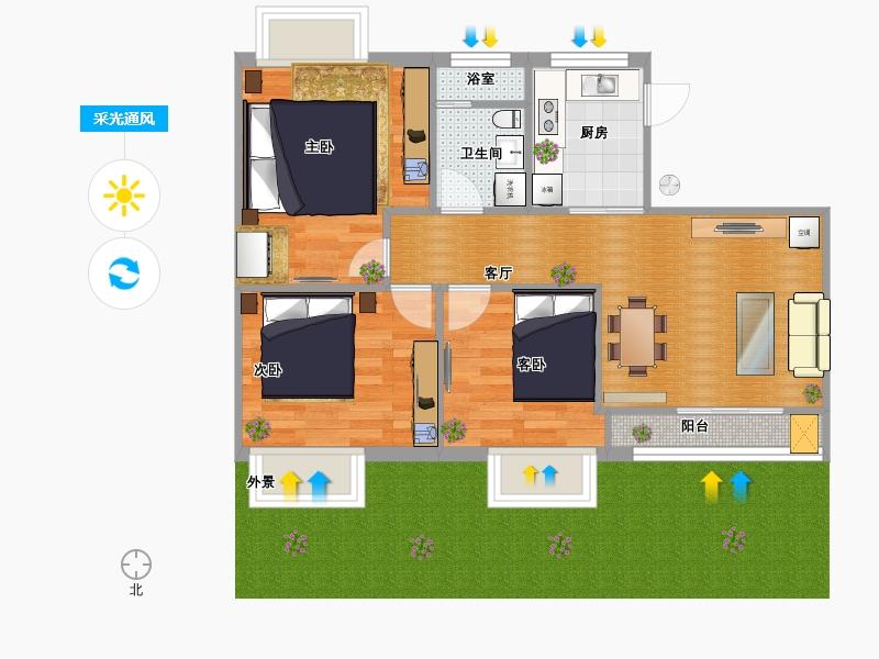 平房设计图 平房别墅设计图 农村带院平房户型图 叁气图片网