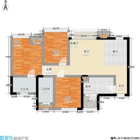 天悦国际96.00㎡一期5号楼B2标准层9户型