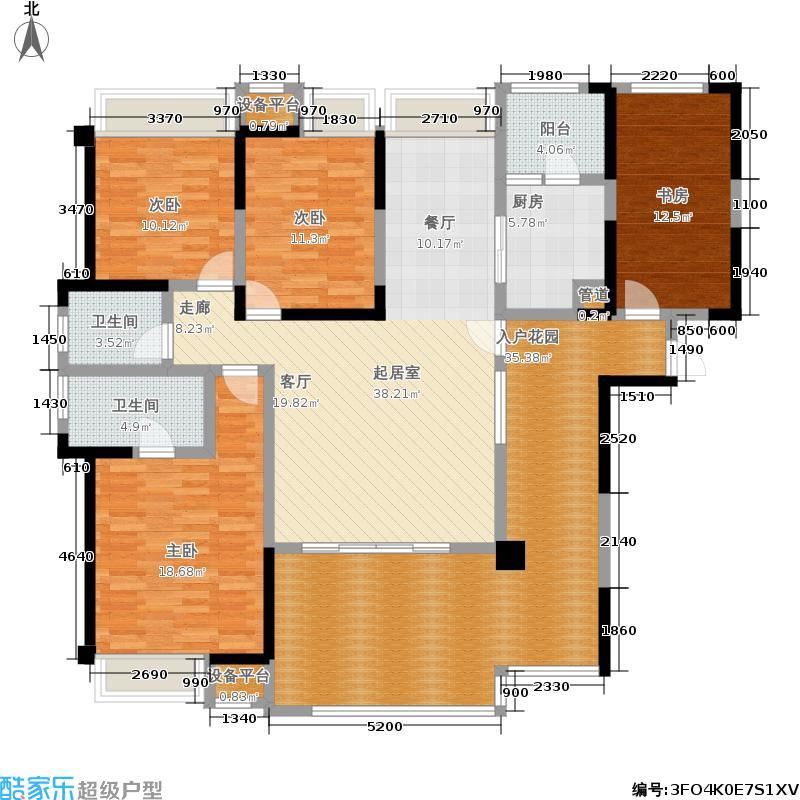中信未来城138.00㎡2期n12栋标准层f8户型