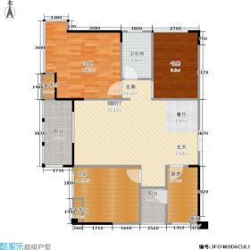 城投观城88.00㎡一期2、4、6、8号楼标准层F4型户型