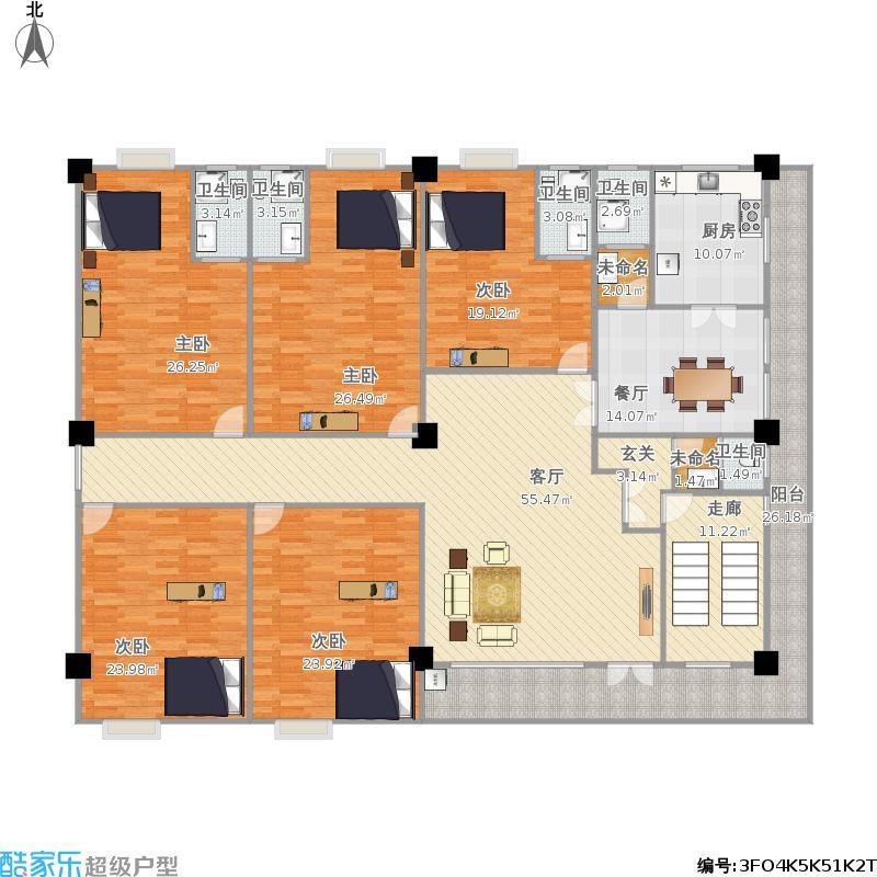 求农村自建房宽10深9米三房一厅一卫一厨的图纸图片