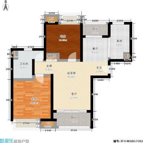 启航社晶彩启航社晶彩户型图二房二厅一卫,面积约87平方米(8/9张)户型10