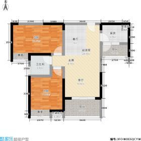华侨凤凰国际城74.61㎡二期5、7、8号楼标准层L2户型
