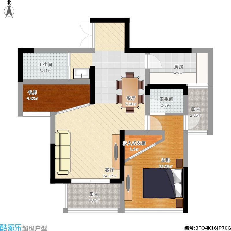 61平一室变两室住房求装修设计主打实用