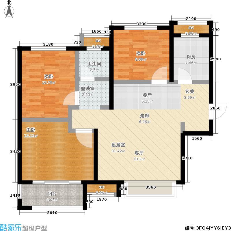 荣盛龙湖半岛91.26㎡雨荷苑26#28#29#31#户型