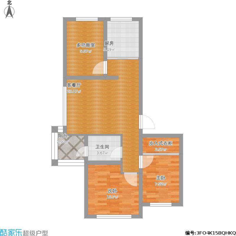 户型设计 香林漫步,缇香,改主体装修,三室一厅86㎡.  建筑面积:75.