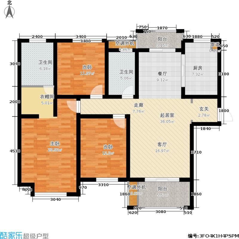 00㎡高层gj户型  安徽 芜湖 伟星城 建筑面积:142平方米 分享