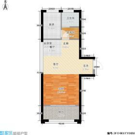 安阳义乌国际商贸城51.33㎡20# G3户型 一室0厅一厨一卫 51.33平方米户型1室1卫