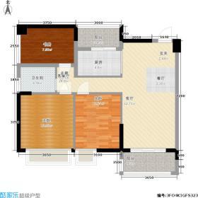 天英月珑湾93.00㎡天英・月珑湾琥珀轩1幢-2幢02/03标准层户型
