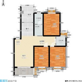 招贤公寓107.81㎡方户型