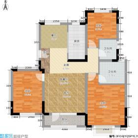 津尚花园105.39㎡一期高层标准层面积10539m户型