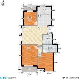 越宫京园107.81㎡3室2厅2卫A3户型(2期小高层)户型3室2厅2卫