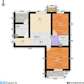 中鼎·凤凰城85.30㎡平层B-3户型2室2厅