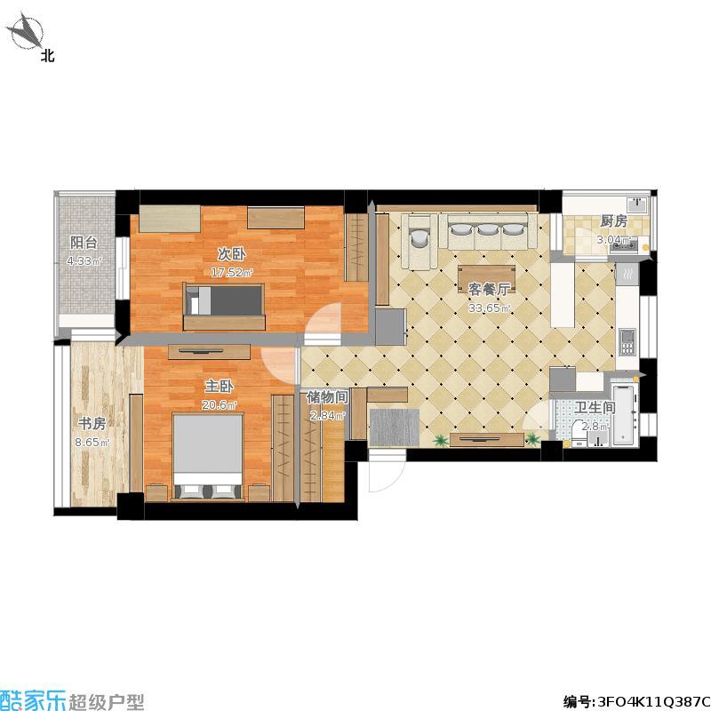 两室一厅装修布局-副本户型图大全