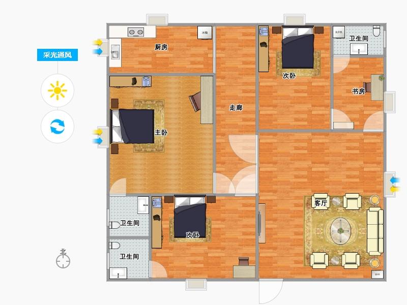 三室一厅一 设计图展示