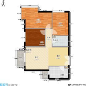 朗琴园105.39㎡10号楼B2面积10539m户型