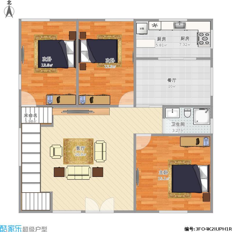 农村自建房屋2层3房2厅1楼图