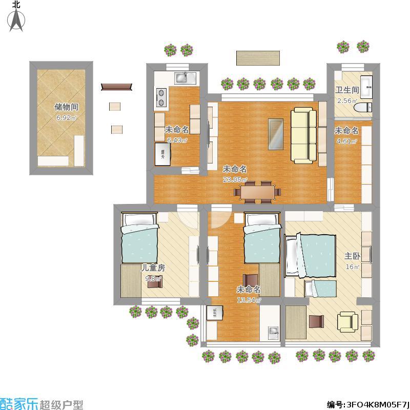 沐霞村房子平面布置图