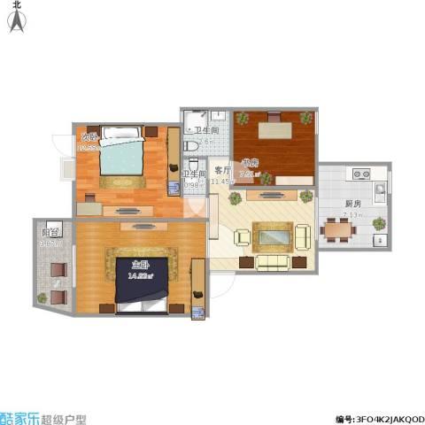 14层小高层93方三室一厅