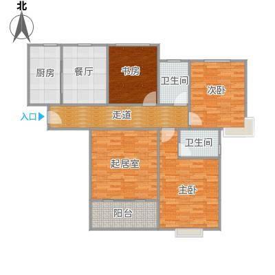 御天下2室2厅1空中花园户型图