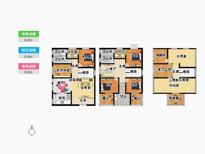 农村自建两层加阁楼的小别墅