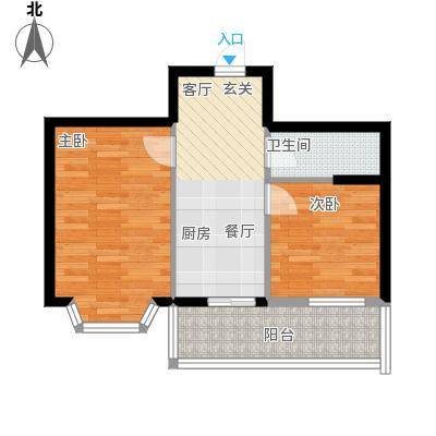 金豪斯经典二期40.76平方米户型