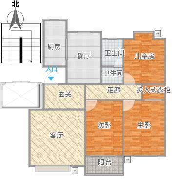 宜居园-三室二厅-改衣帽间