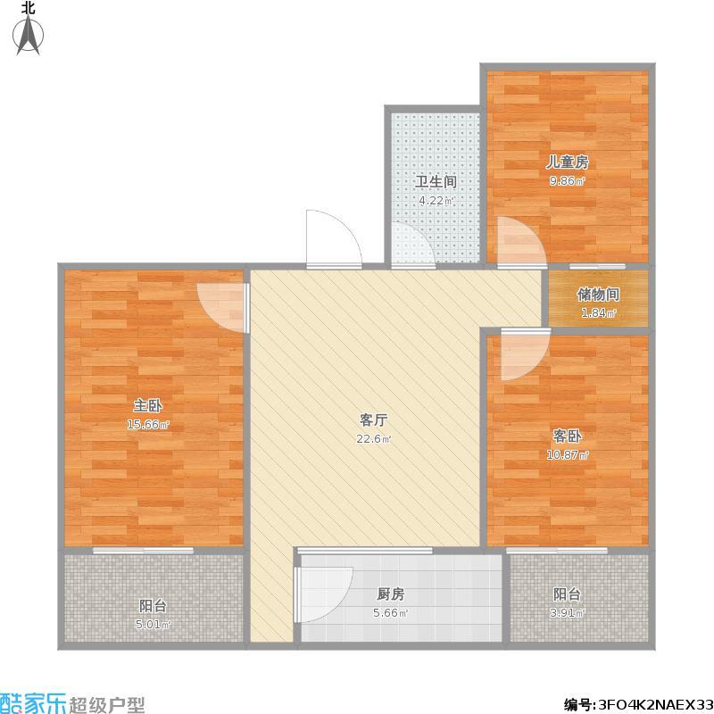 120平方三室一厅设计图