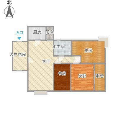 天府名居3室2厅1卫 105平