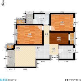 中和苑90.00㎡高层标准层户型