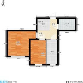 朝阳新苑B户型49.73平户型