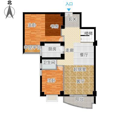 大洲国际龙郡手绘-bc一层户型2室1卫1厨