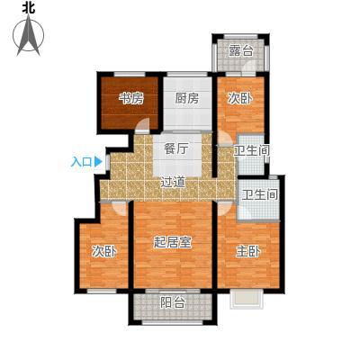 富立秦皇半岛128.01㎡户型4室2厅2卫